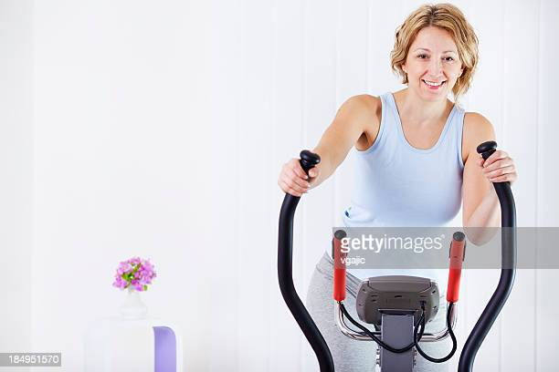Woman Exercise At Home.