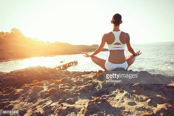 Woman exercising in the nature