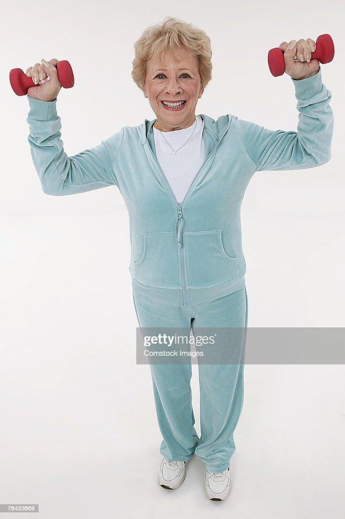 Woman exercising : Stockfoto