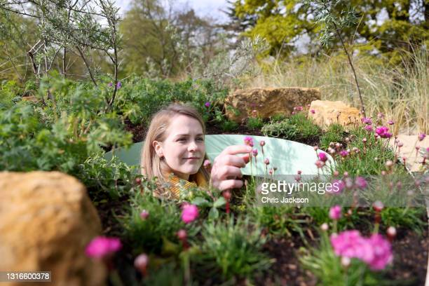 Woman explores the immersive plant-scape as part of The 'Secret World Of Plants' at Kew Gardens on May 06, 2021 in London, England. The festival...
