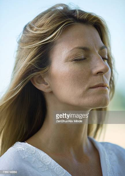 Woman, eyes closed, portrait