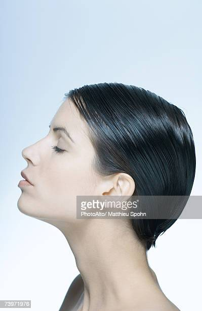 Woman, eyes closed, profile, portrait