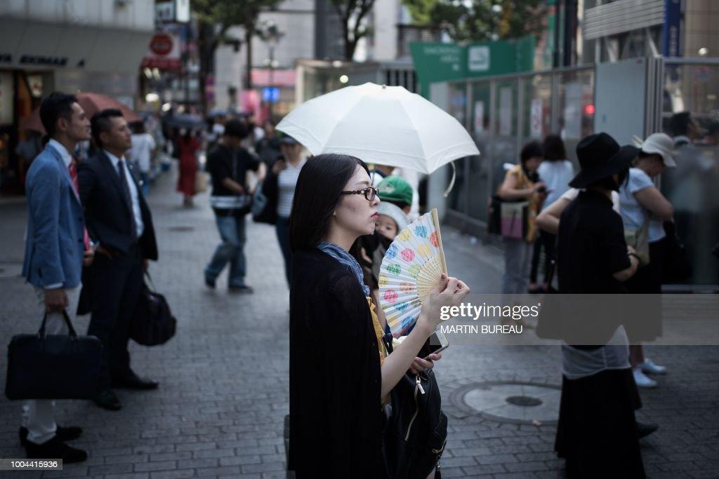 JAPAN-WEATHER-HEATWAVE : News Photo