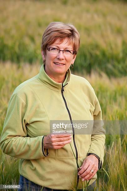 Woman Farmer In Barley