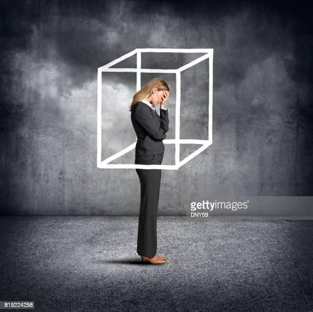 Woman Feeling Boxed In