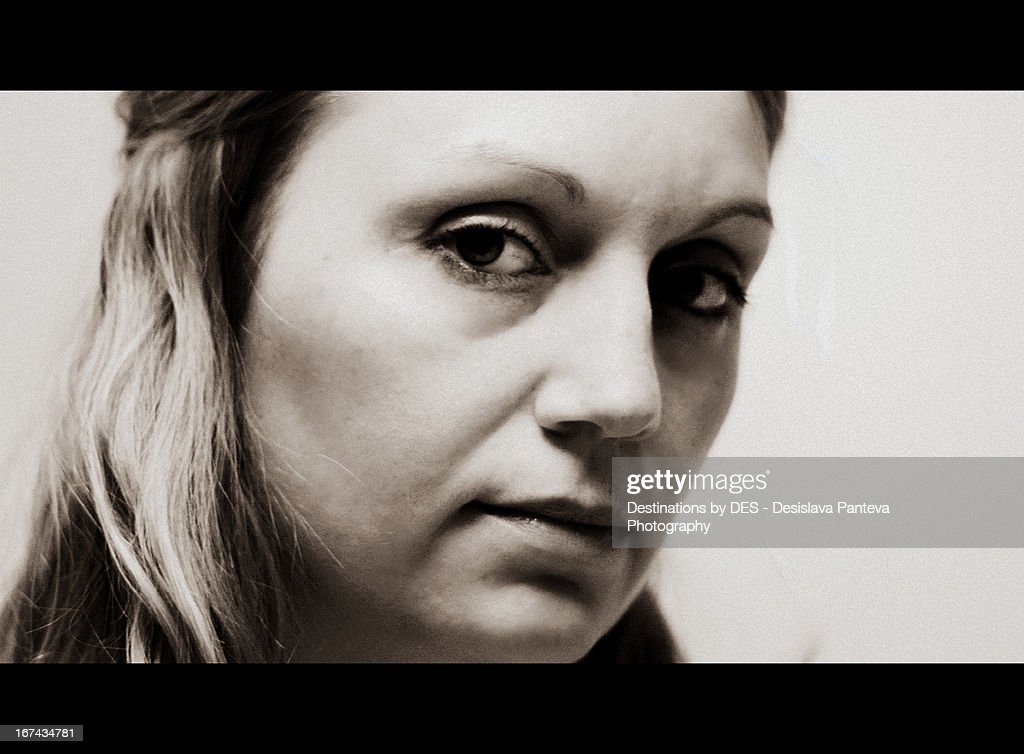 Woman film portrait : Stock Photo