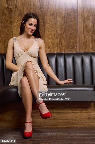Woman flirting at club