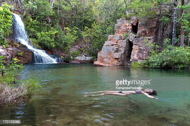 woman floating - mato grosso state stock pictures, royalty-free photos & images