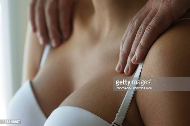 woman getting a massage, cropped - sensual massage stock photos and pictures