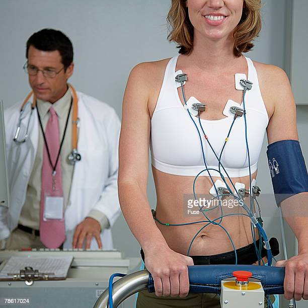Woman Getting Cardiovascular Stress Test