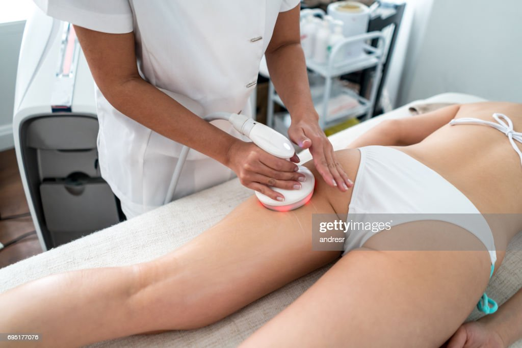 Woman getting laser treatment at the spa : Stock Photo