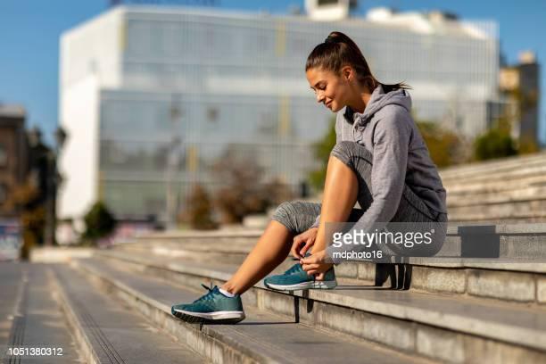 Frau, die immer bereit für ein Training