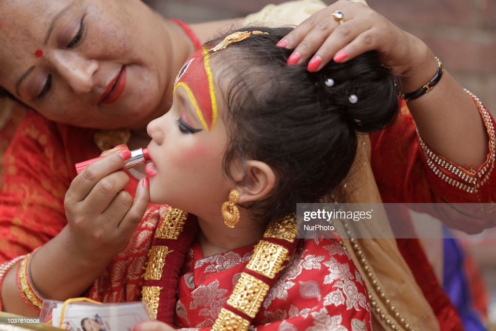 Kumari Puja Festival Celebrated In Nepal