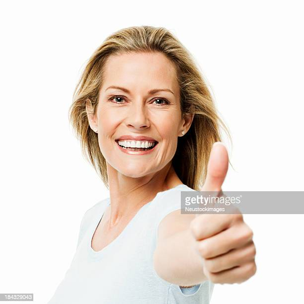 Woman Giving a Thumbs Up - Isolated