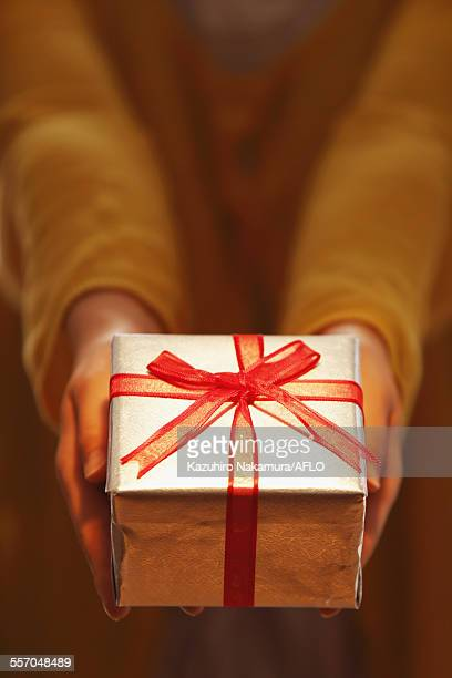 Woman giving gift