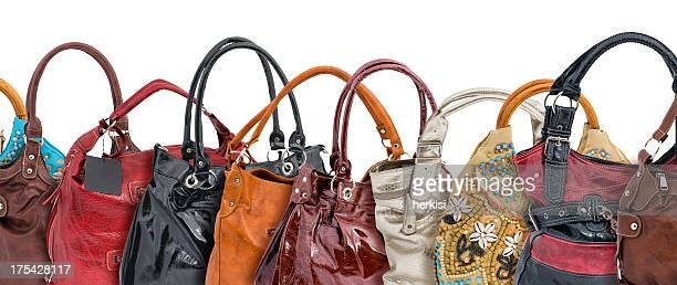 woman hand bags - silver purse stock pictures, royalty-free photos & images