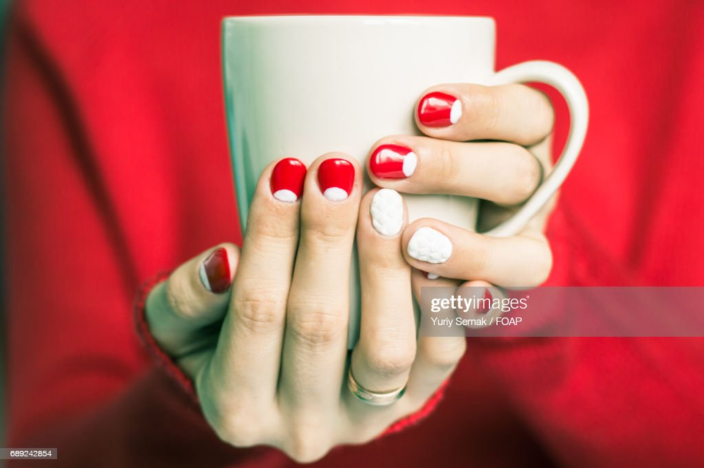 woman hand with cup of tea : Stock Photo