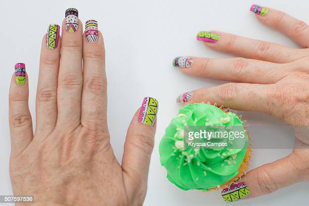 Woman hands with nail art
