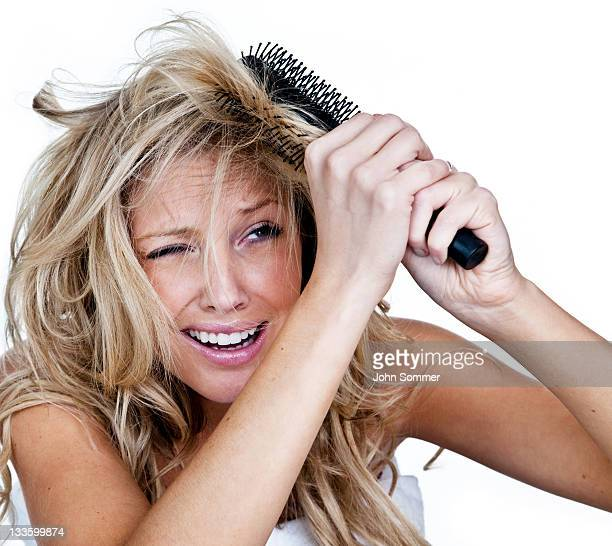 Frau mit einem schlechten Haar-Tag