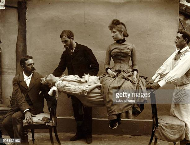 Woman having a cataleptic fit Ca 1890