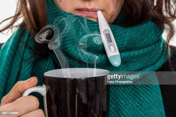 Woman Having A Cold
