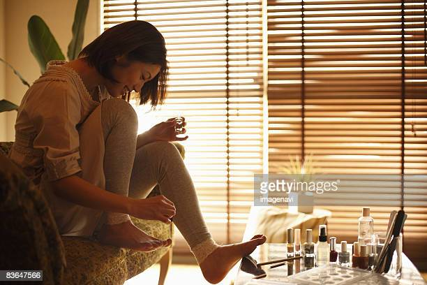 A woman having a pedicure