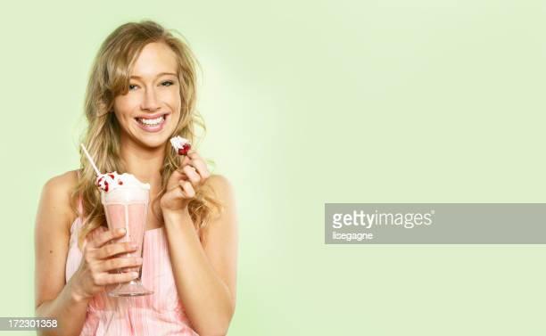 Woman having a sweeties