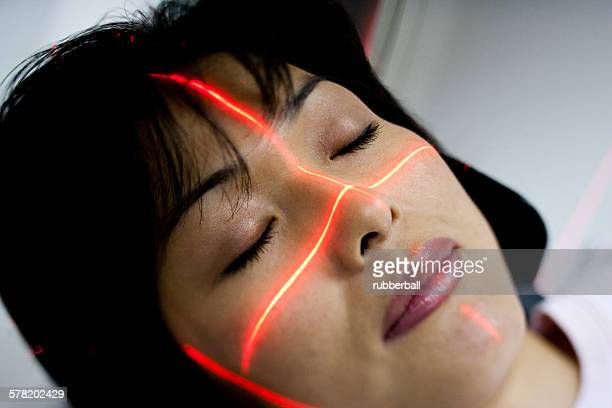 Woman having an MRI