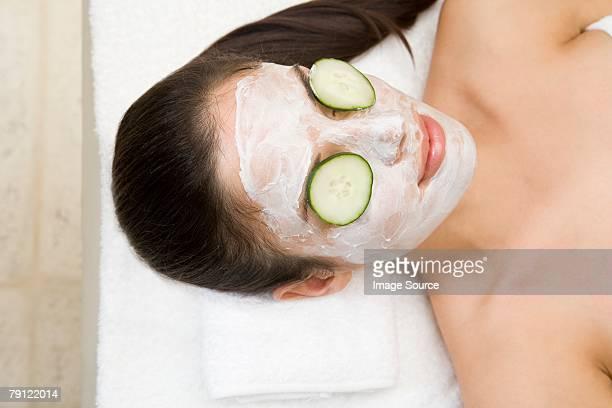 Frau mit beauty Behandlung