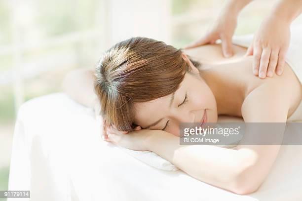 Woman having beauty-treatment
