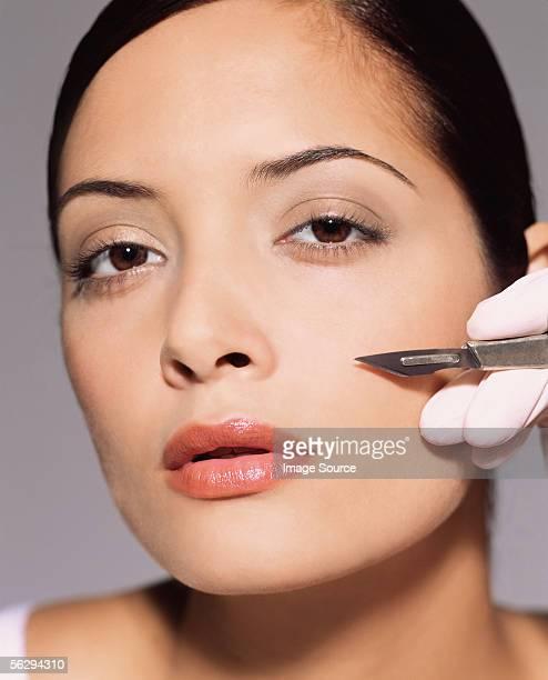 Woman having cosmetic surgery