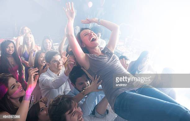 Woman having fun at a concert