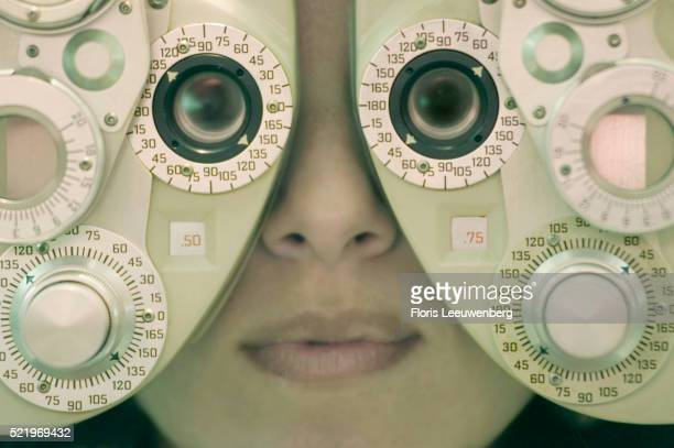 A Woman Having Her Eyes Examined