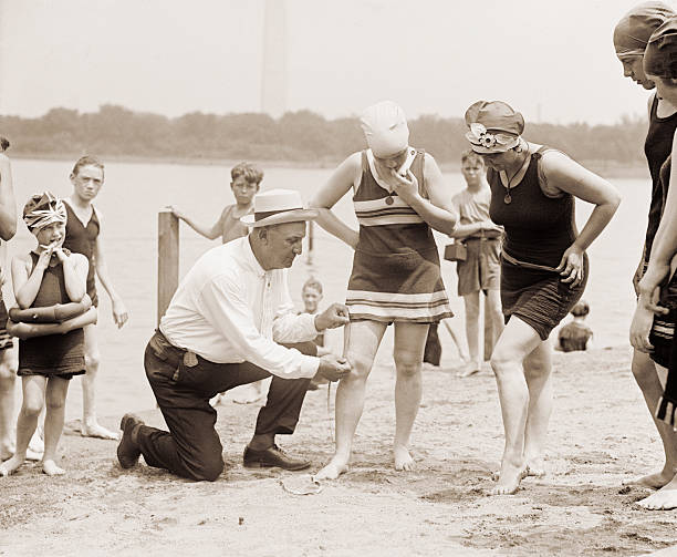 Measuring Swimsuits, 1920s