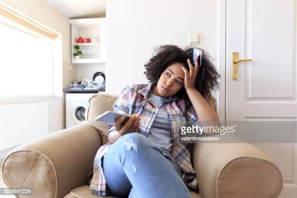 Woman having problems