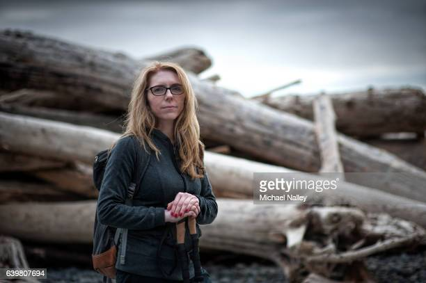 woman hiker - climbing equipment stock pictures, royalty-free photos & images