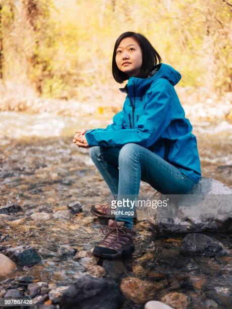 Woman Hiker Relaxing Outdoors