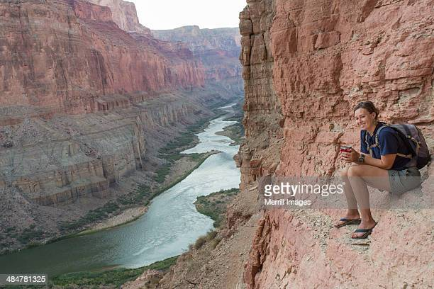 Woman Hiking in Grand Canyon
