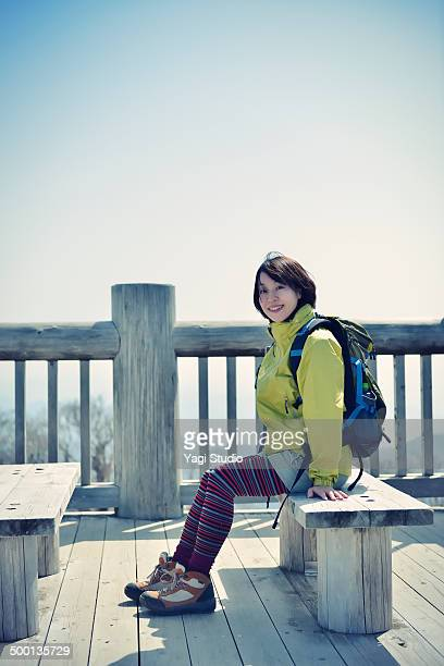 Woman hiking in Mt. Odaigahara