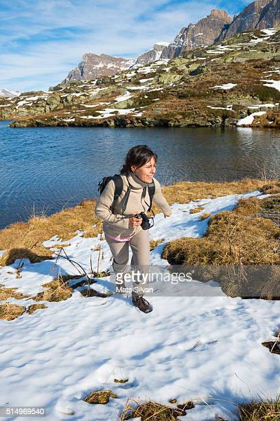 Woman hiking in the nature