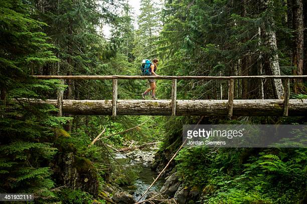 woman hiking outdoors - washington state stock pictures, royalty-free photos & images