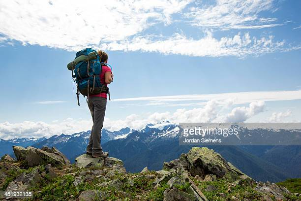 Woman hiking outdoors