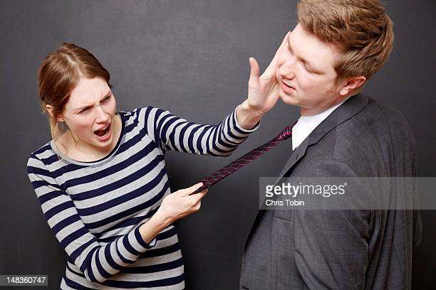 woman hitting her husband - slapping stock pictures, royalty-free photos & images