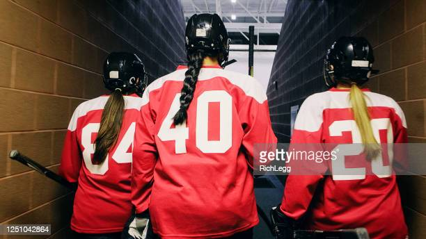 woman hockey player - winter sports event stock pictures, royalty-free photos & images