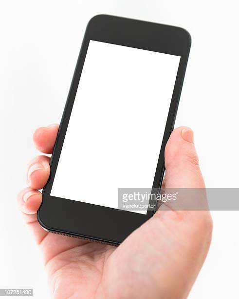 woman holding a new smartphone