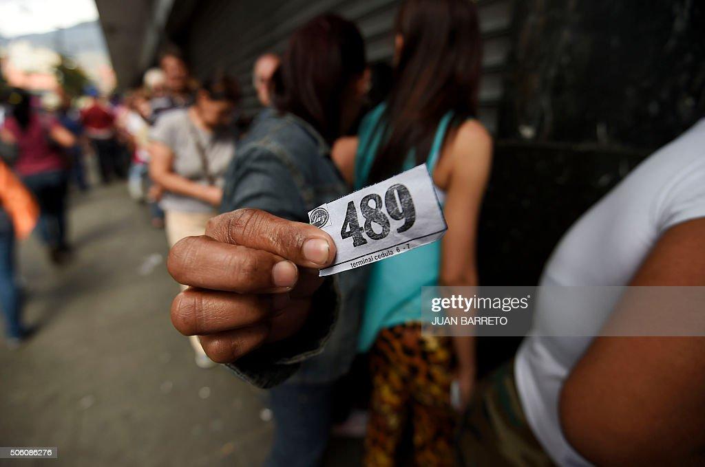 VENEZUELA-CRISIS-ECONOMY : News Photo