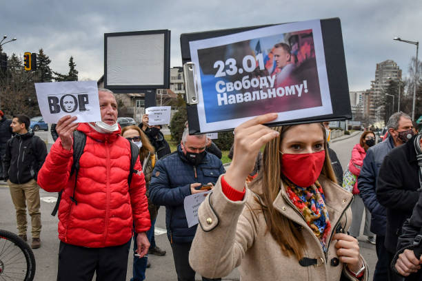 BGR: Supporters Of Alexei Navalny Gather In Sofia, Demand His Release From Prison