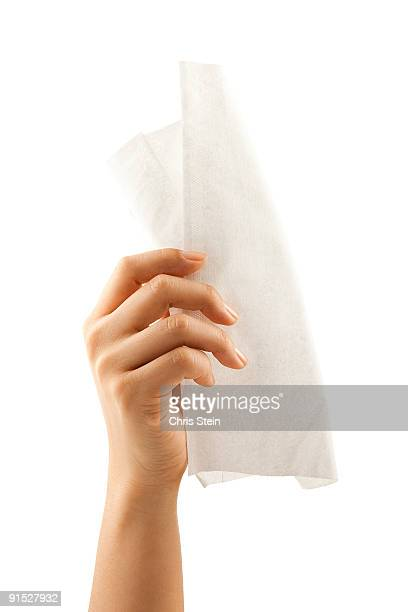 Woman holding s tissue