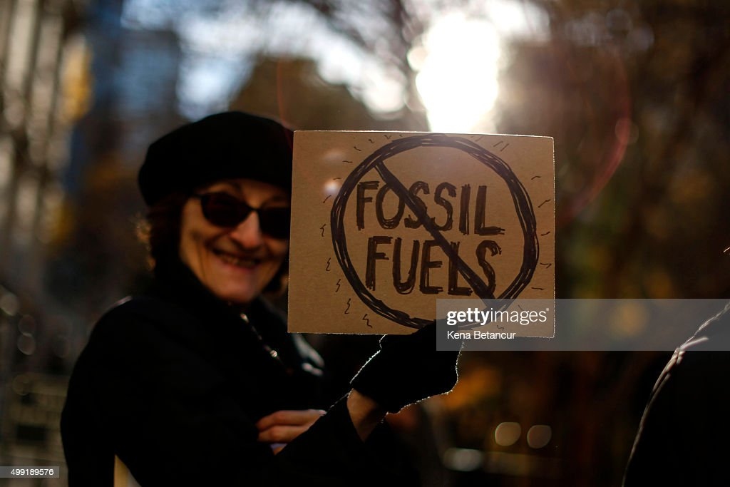 Environmental Activists Hold Rally And March In Lower Manhattan : News Photo