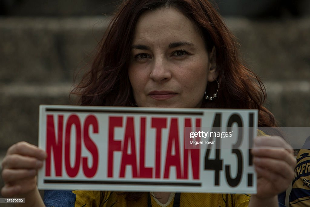 Tenth Global Action for the 43 Missing Students in Mexico City : News Photo